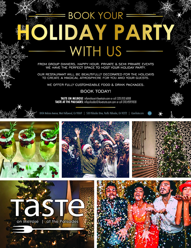 Book your Holiday Party with Us - ilovetaste