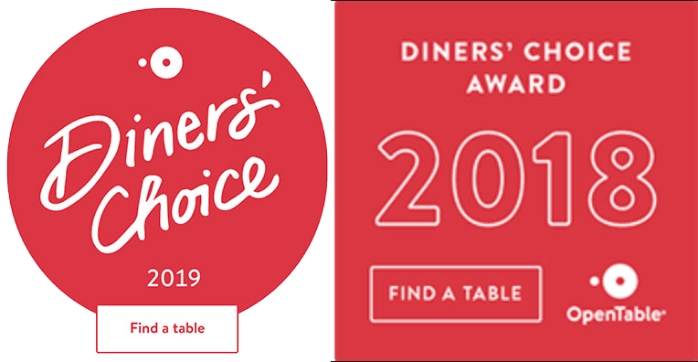 open table diners choice award 2019 2018